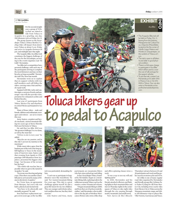 Mexico City News - Toluca Bikers Gear Up