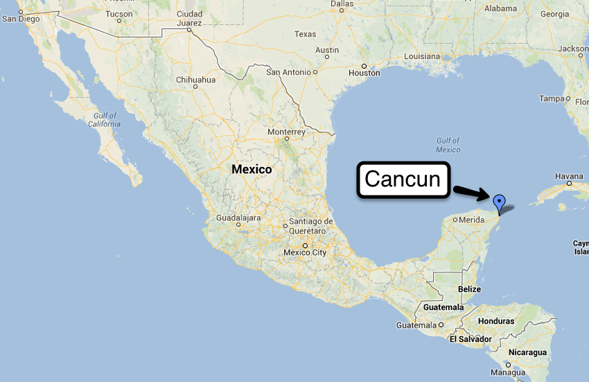 Cancun Mexico Map Is Cancun An Island Citiestips Com