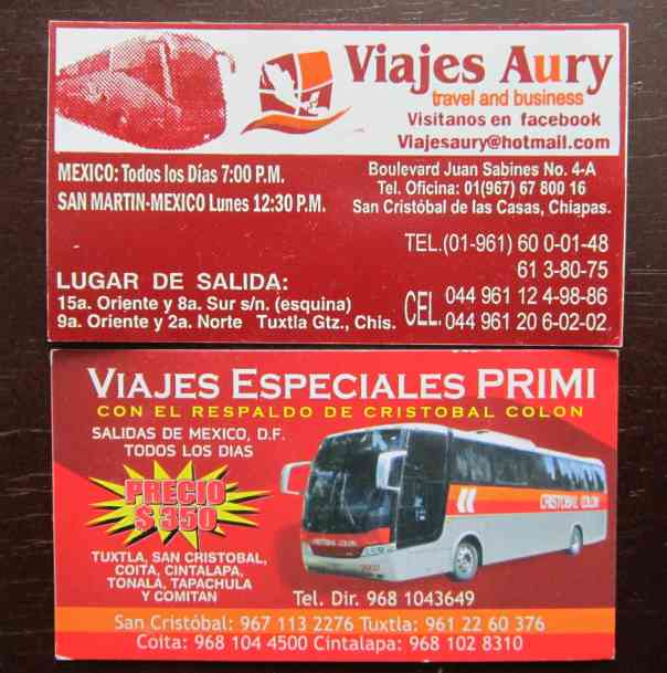 chiapas bus cards