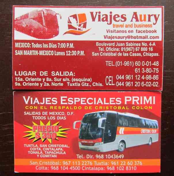 chiapas bus cards