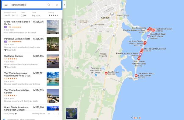 no hay bronca hotels Google maps 1