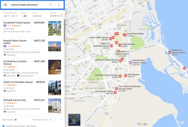no hay bronca hotels Google maps 2